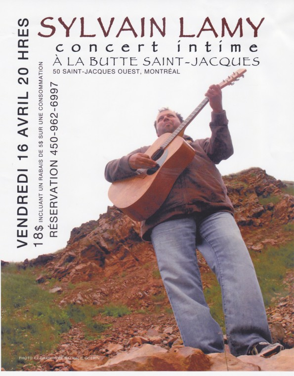 Sylvain Lamy concert intime Butte st-Jacques Spectacle cl presse 2010