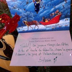 Carte de Noël Sylvain Lamy