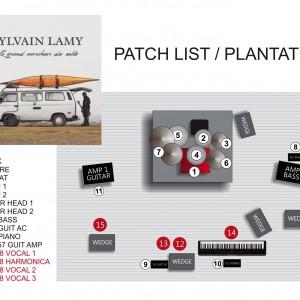 Fiche technique détaillée du spectacle - SYLVAIN LAMY 2